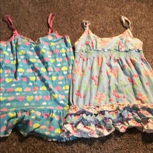 2 Cute juniors night gowns size large candie's